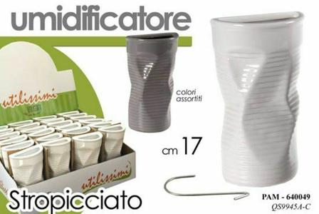 Umidificatore Ambiente Evaporatore Termosifone in Ceramica Colori Assortiti 20cm