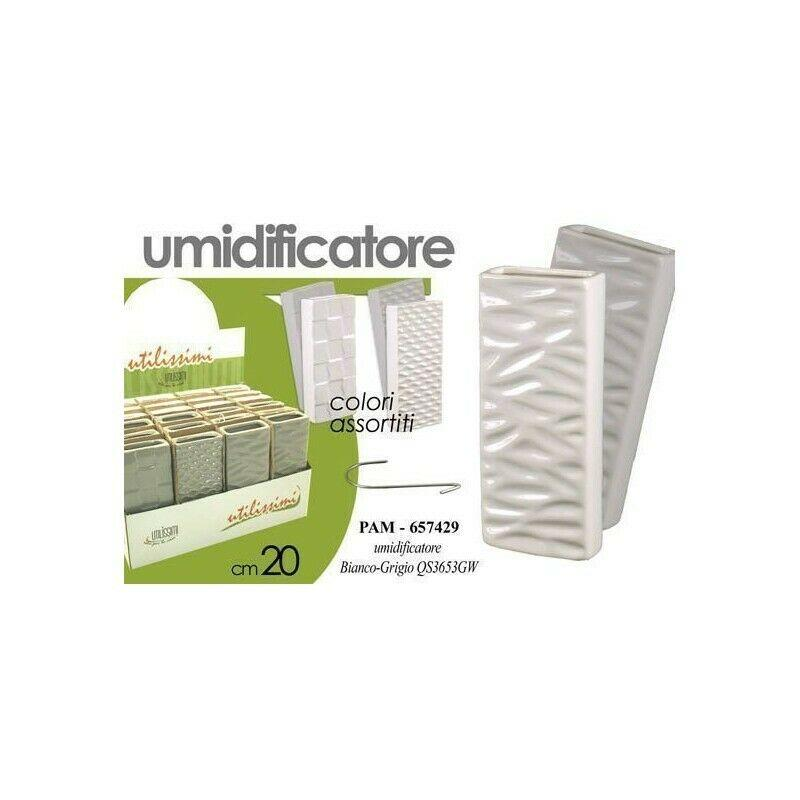 Umidificatore Ambiente Termosifone Evaporatore in Ceramica Colori Assortiti 20cm