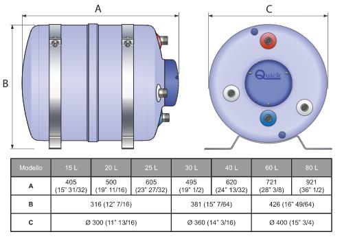 Boiler B3 25 LT 500 W di Quick - Offerta di Mondo Nautica 24