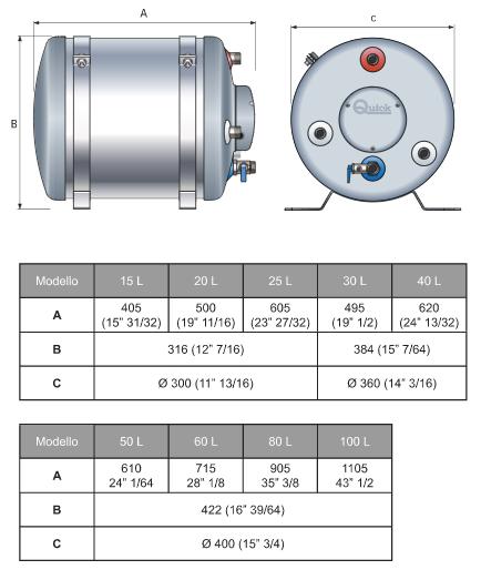 Boiler BX 30 LT 1200 W di Quick - Offerta di Mondo Nautica 24