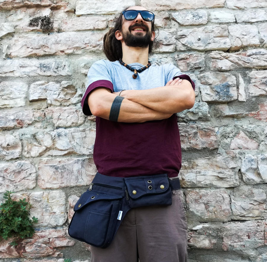"""Hip Bag """"ROME"""" grey"""