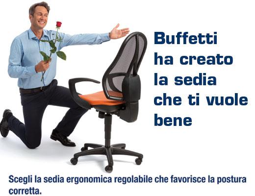 SEDIA UFFICIO AIR SYNCRO ARANCIONE CON BRACCIOLI B94