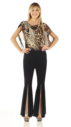 Copia di Copia di w DANCE TROUSERS IN SWEATER WITH INSERTS IN TULLE BOTTOMS 1-0010B