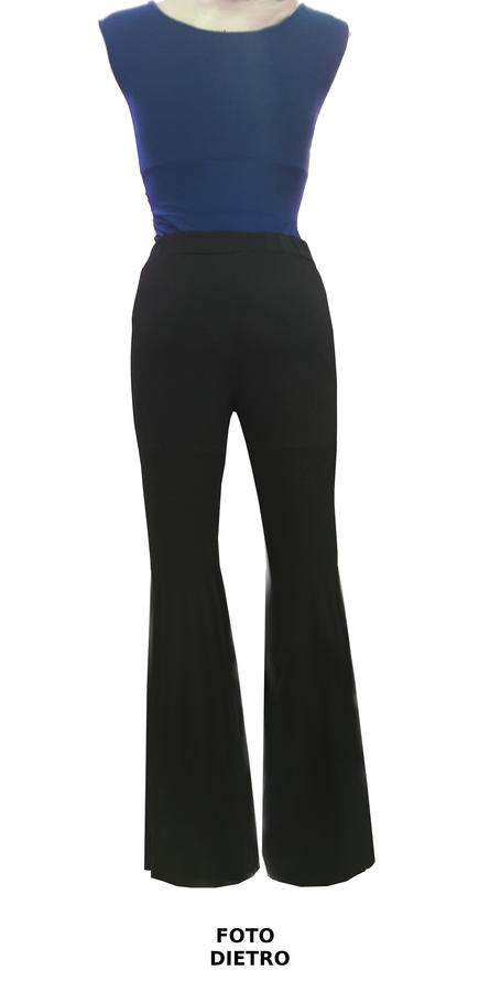 DANCE PAWL PANTS IN ELASTIC JERSEY WITH FRONT SLIT 1-0022