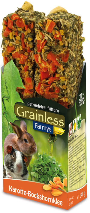 JR Farm Grainless Farmys Stick Carota-Fieno greco
