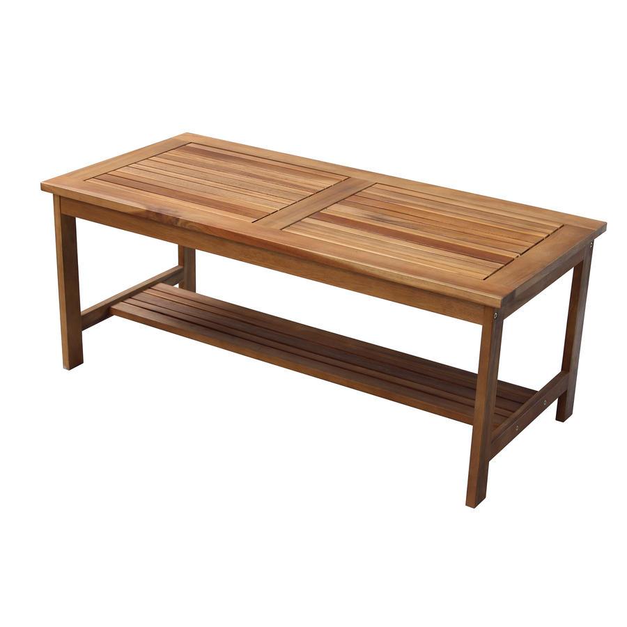 Tavolo basso in legno di acacia gold 100 x 50 cm x 40 h