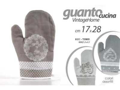 Guanto da Forno Cucina shabby Guanti in Tessuto Modello Romantico Lavabile New