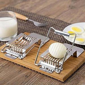 Taglia Uovo Affetta Uova in Acciaio con Filo Tagliauovo Spicchi Fette da Cucina