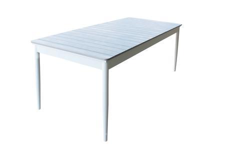 Tavolo da giardino in alluminio BIBBIONE BIANCO 200 / 300 x 90 h 76 piano polywood ruvido grigio colore grigio