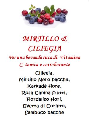 Tisana Mirtillo e Ciliegia - 100gr
