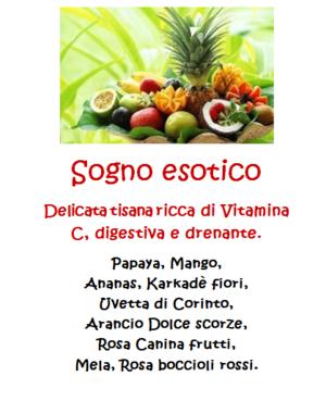 Tisana Sogno Esotico - 100gr