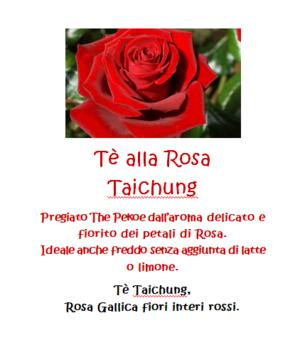 Tè alla Rosa Taichung - 100gr