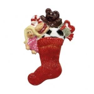 mould silicone decoro calza natalizia e doni