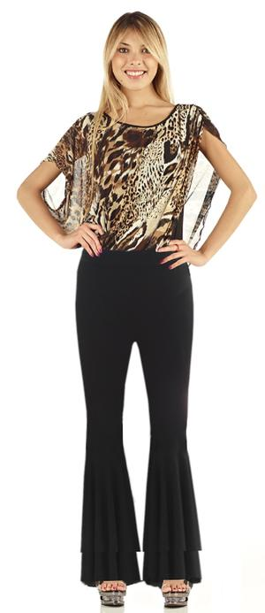 DOUBLE PAW DANCE TROUSERS IN ELASTIC JERSEY 1-0023
