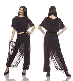 COMPLETE JERSEY AND TROUSERS IN DOUBLE SWEATER WITH BLACK TULLE 3-0017