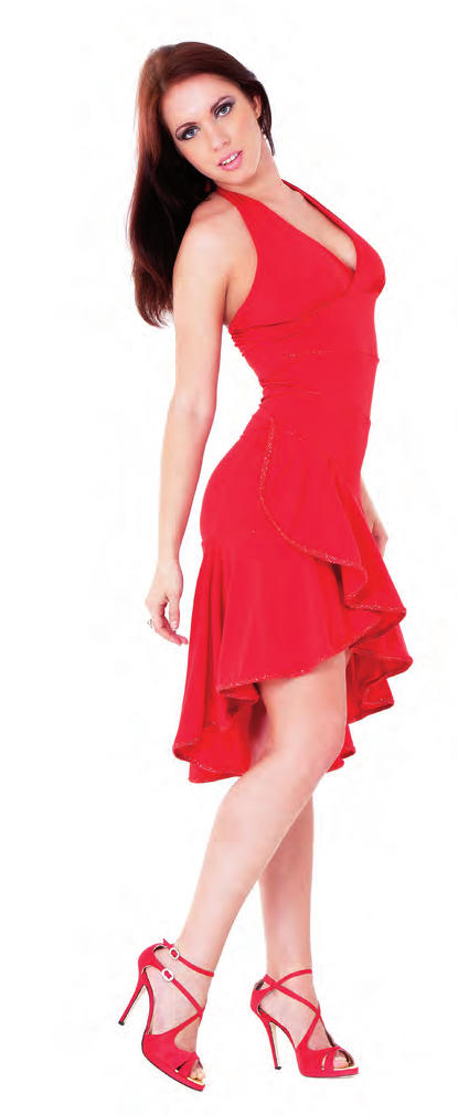 online retailer a7d8e 7b200 ABITO LATIN DANCE CORTO DAVANTI E LUNGO DIETRO IN MAGLINA ...