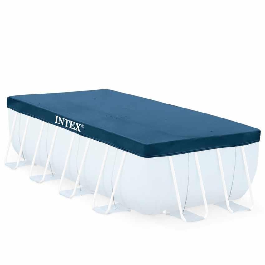 Telo piscina INTEX Telo Copertura Prisma Rettangolare 488x244x107 Cm - 28318 codice 12229
