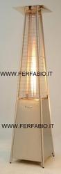 Stufa A Gas Gpl per ristoranti bar a Piramide Maurer mod.Giza 9,5 Kw Altezza 220 cm colore Grigio 94752