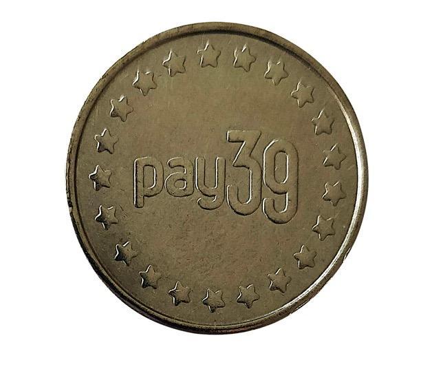 Gettone in acciaio mod. PAY39 (100pz)