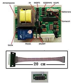 Timer per gettoniera - IN/OUT 220V - 6A