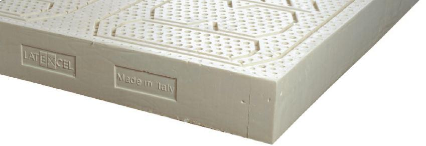 Materasso in Lattice 100% Mod. Iris Argento da Cm 90x190/195/200 a Zone Differenziate Sfoderabile - Ergorelax
