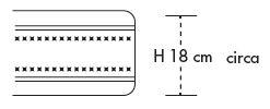 Materasso in Lattice 100% Mod. Iris Argento Matrimoniale da Cm 160x190/195/200 a Zone Differenziate Sfoderabile - Ergorelax