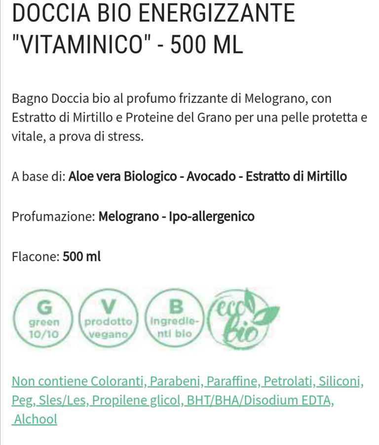 Bagnoschiuma bio energizzante 500 ml
