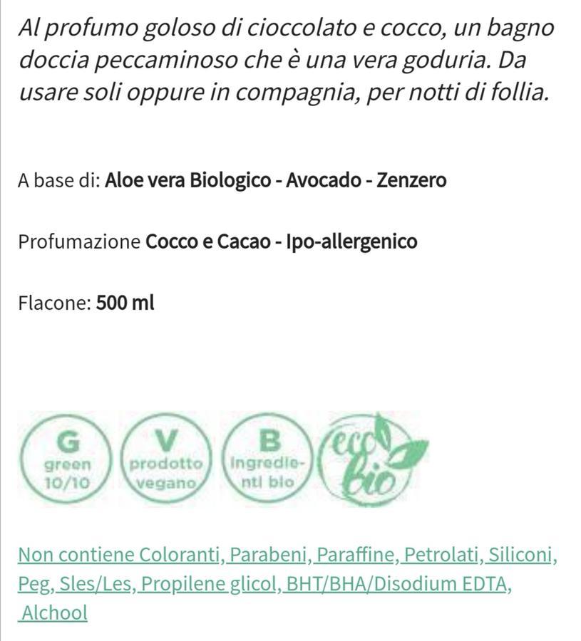 Bagnoschiuma delicato profumato ecogreen Divina Essentia Firenze, coccolito 500 ml