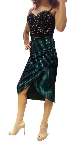 Copia di ARGENTINE TANGO SKIRT IN TUBING WITH LATERAL OPENING 2-0032