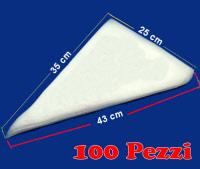 Conf. 100 sac à poche usa e getta plastica 43 cm
