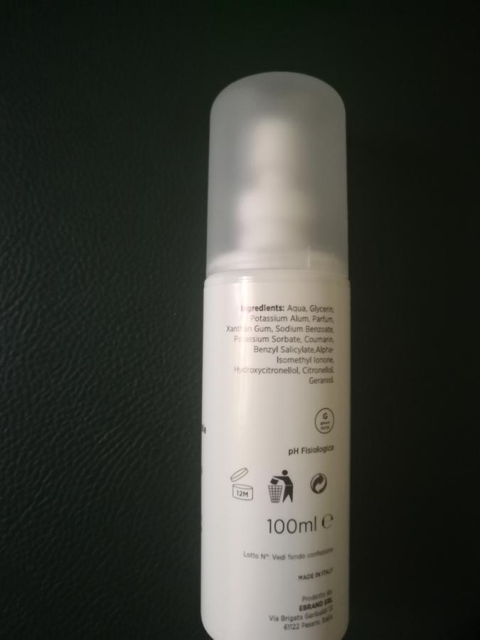 Deodorante al talco senza alluminio