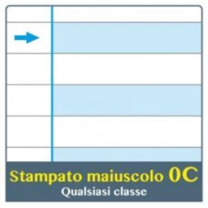 QUADERNO ONE COLOR DIDATTICO A4 RIGATURA 0C PER DISGRAFIA