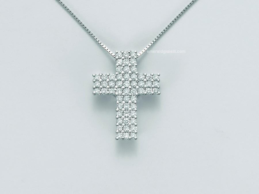 cld3972 Girocollo con Croce e Diamanti Miluna -