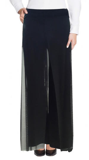 PANTS JERSEY DUBBED WITH PANELS TULLE BIG SIZE LXL 1-0015