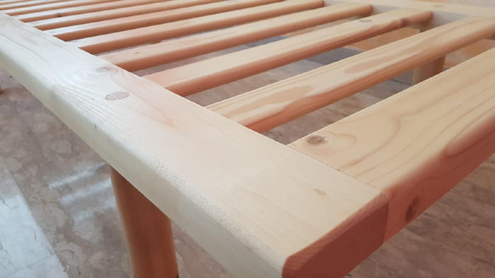 Rete in Legno Mod. Tuttalegno Massello 90X190/195/200 100% Made in Italy