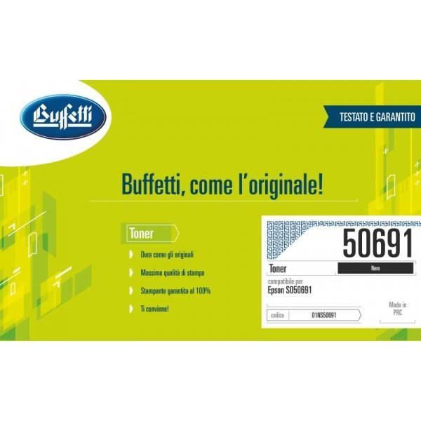 Toner Buffetti compatibile con Epson  C13S050691 Colore nero