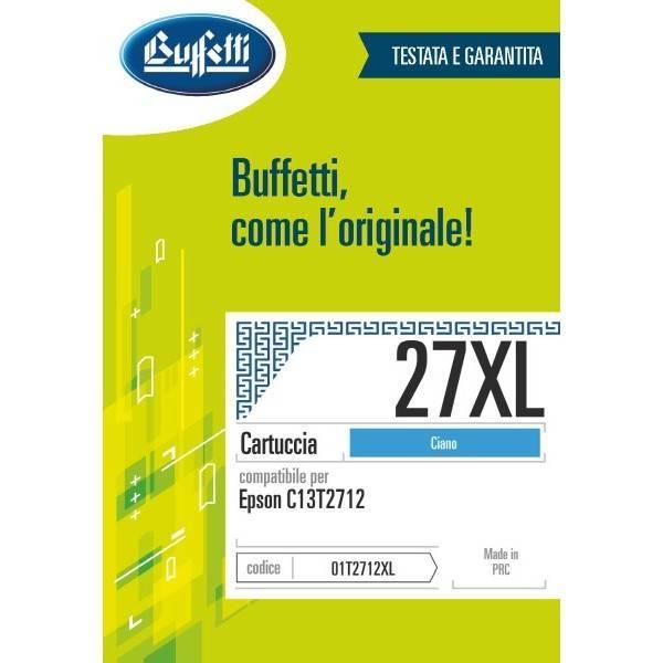 Cartuccia Buffetti compatibile con Epson 27XL Colore ciano