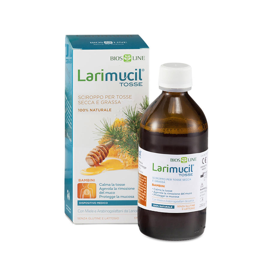 Larimucil® Tosse Bambini - Syrup por dry and wet cough children