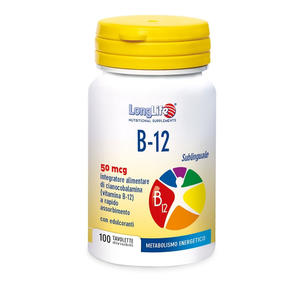 LONGLIFE B12 SUBLINGUALE 50 mcg