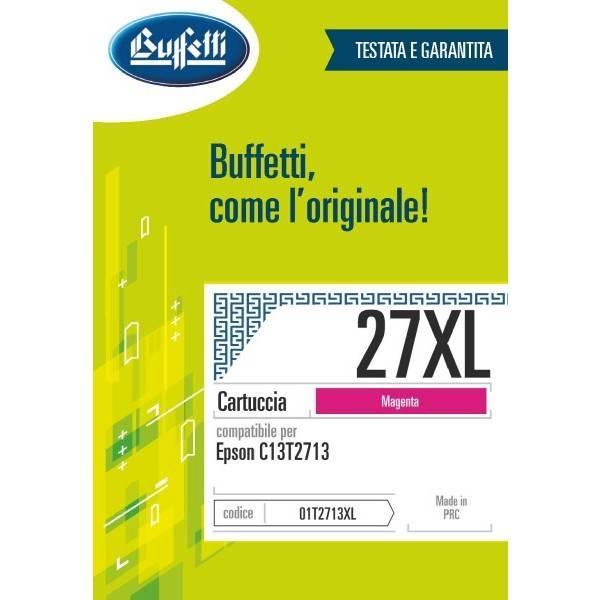 Cartuccia Buffetti compatibile con Epson 27XL Colore magenta