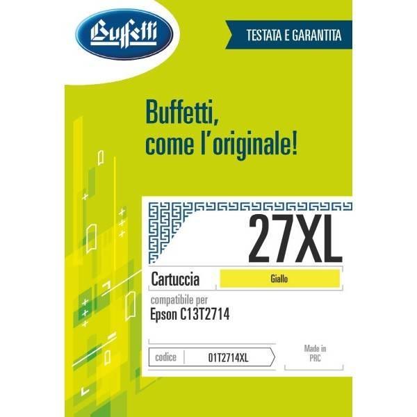 Cartuccia Buffetti compatibile con Epson 27XL Colore giallo