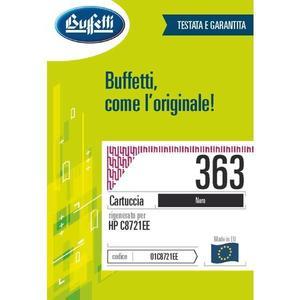 Cartuccia Buffetti compatibile con HP 363 Colore nero