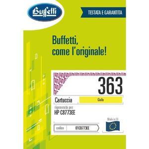 Cartuccia Buffetti compatibile con HP 363 Colore giallo