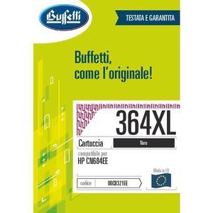 Cartuccia Buffetti compatibile con HP 364XL Colore nero