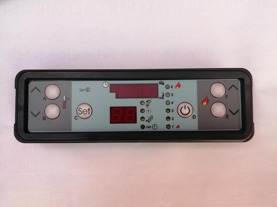 DISPLAY LED 6 TASTI MICRONOVA ORIZZONTALE