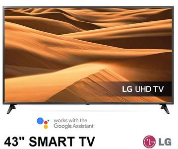 "LG TV LED Ultra HD Smart TV 43"" 4K Active HDR AI ThinQ Google Assistant e Alexa UM7100"