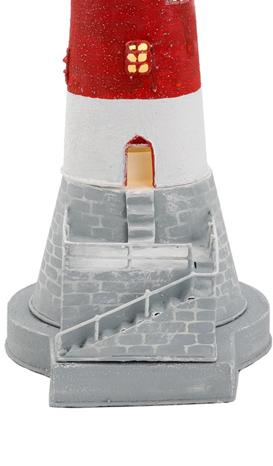 Lampada a Forma di Faro Marino Bianco/Rosso con scaletta Alto Cm 48 di Artesania Esteban - Offerta di Mondo Nautica 24