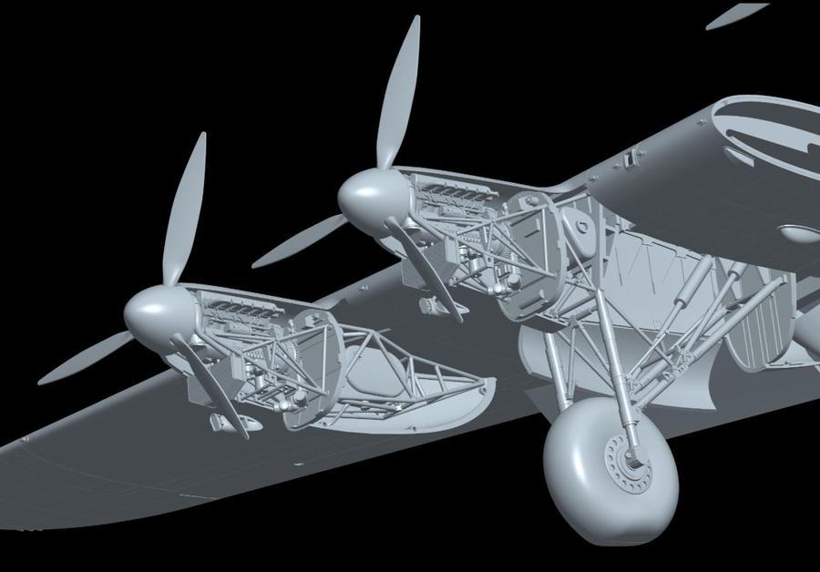 Modello in Scatola di montaggio Aereo Avro Lancaster B Mk 1 Limited Edition di Hong Kong Models