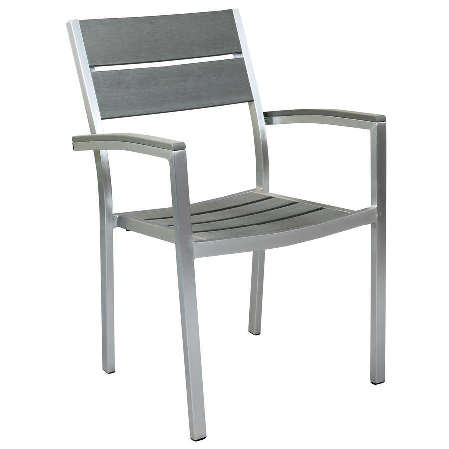 Sedie da giardino BARBADONES impilabili alluminio