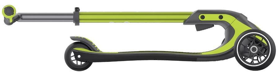Monopattino ULTIMUM Verde di Globber a Tre Ruote Ripiegabile e Manubrio Telescopico